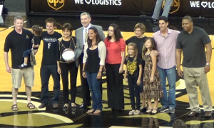 Basketball game honored